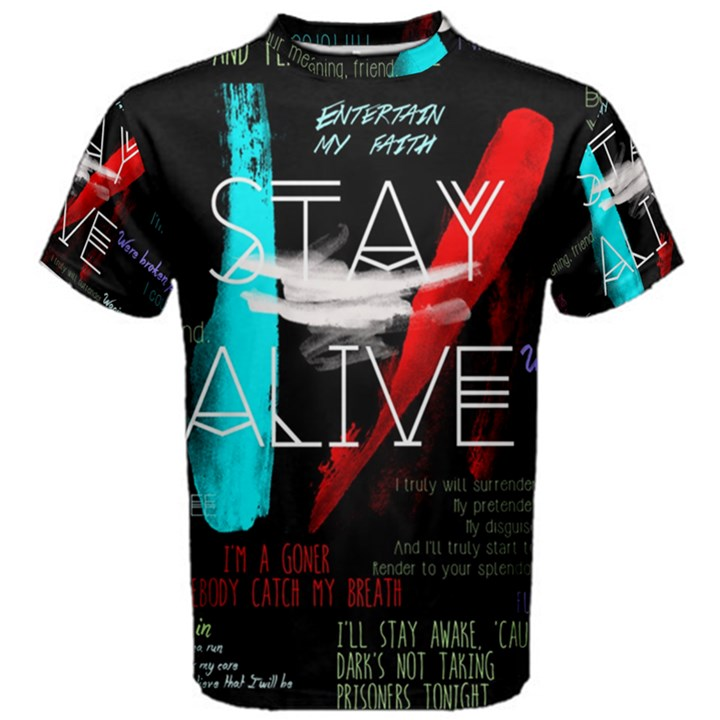 Twenty One Pilots Stay Alive Song Lyrics Quotes Men s Cotton Tee