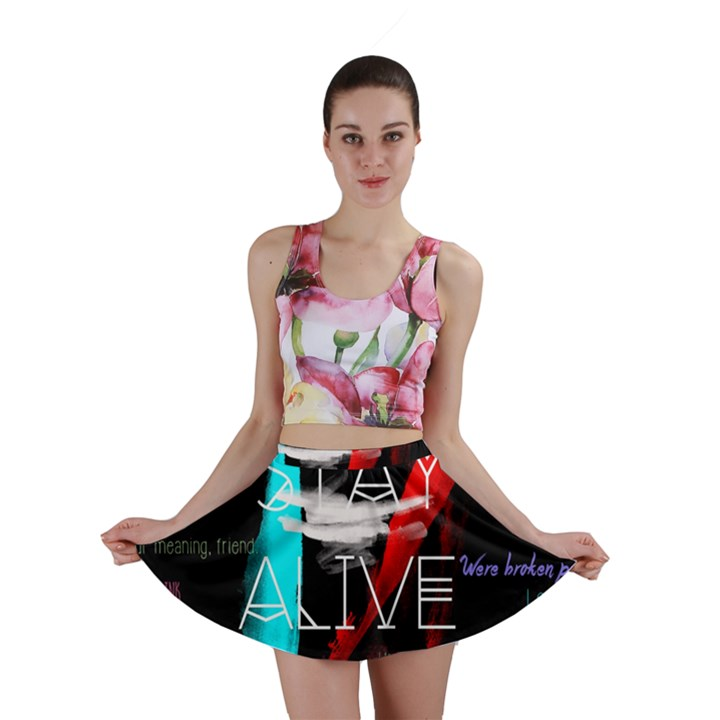 Twenty One Pilots Stay Alive Song Lyrics Quotes Mini Skirt