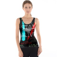 Twenty One Pilots Stay Alive Song Lyrics Quotes Tank Top
