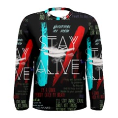 Twenty One Pilots Stay Alive Song Lyrics Quotes Men s Long Sleeve Tee