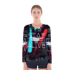 Twenty One Pilots Stay Alive Song Lyrics Quotes Women s Long Sleeve Tee