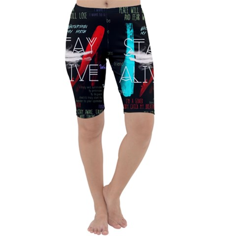 Twenty One Pilots Stay Alive Song Lyrics Quotes Cropped Leggings