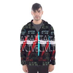 Twenty One Pilots Stay Alive Song Lyrics Quotes Hooded Wind Breaker (Men)