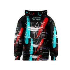 Twenty One Pilots Stay Alive Song Lyrics Quotes Kids  Pullover Hoodie