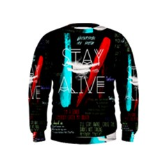 Twenty One Pilots Stay Alive Song Lyrics Quotes Kids  Sweatshirt
