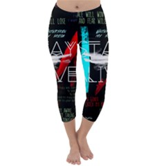 Twenty One Pilots Stay Alive Song Lyrics Quotes Capri Winter Leggings