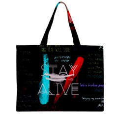 Twenty One Pilots Stay Alive Song Lyrics Quotes Zipper Mini Tote Bag