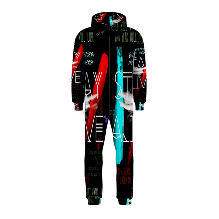 Twenty One Pilots Stay Alive Song Lyrics Quotes Hooded Jumpsuit (Kids)