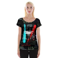 Twenty One Pilots Stay Alive Song Lyrics Quotes Women s Cap Sleeve Top
