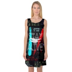 Twenty One Pilots Stay Alive Song Lyrics Quotes Sleeveless Satin Nightdress