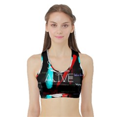 Twenty One Pilots Stay Alive Song Lyrics Quotes Sports Bra With Border