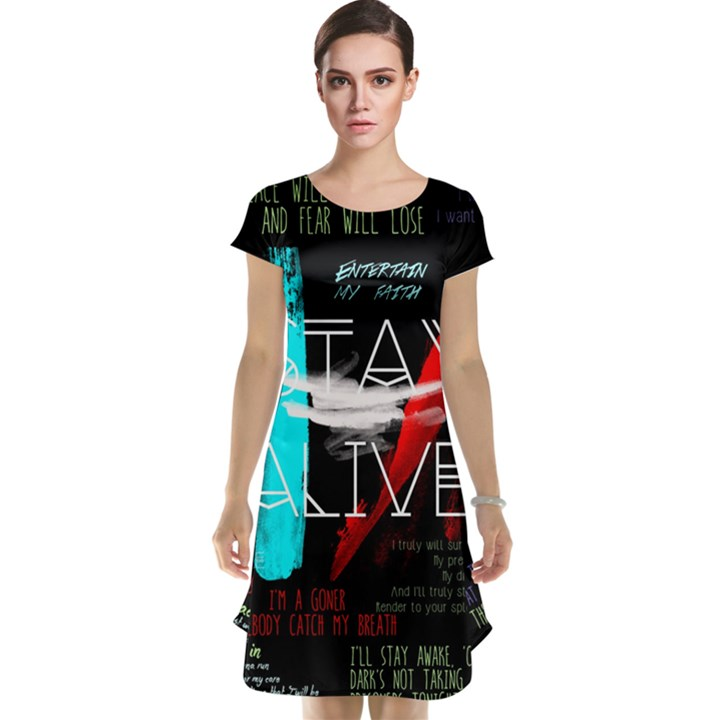 Twenty One Pilots Stay Alive Song Lyrics Quotes Cap Sleeve Nightdress