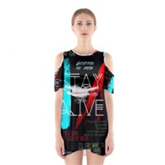 Twenty One Pilots Stay Alive Song Lyrics Quotes Cutout Shoulder Dress
