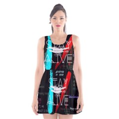 Twenty One Pilots Stay Alive Song Lyrics Quotes Scoop Neck Skater Dress