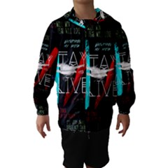 Twenty One Pilots Stay Alive Song Lyrics Quotes Hooded Wind Breaker (Kids)