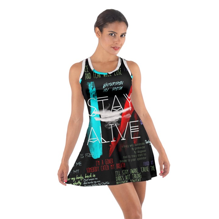 Twenty One Pilots Stay Alive Song Lyrics Quotes Cotton Racerback Dress