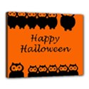 Happy Halloween - owls Canvas 20  x 16  View1