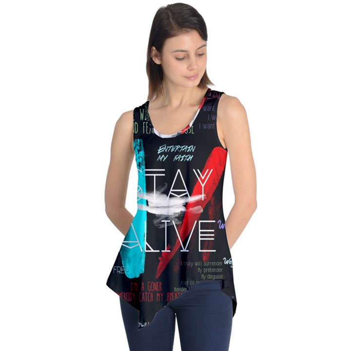 Twenty One Pilots Stay Alive Song Lyrics Quotes Sleeveless Tunic