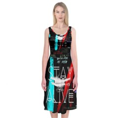Twenty One Pilots Stay Alive Song Lyrics Quotes Midi Sleeveless Dress