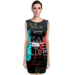 Twenty One Pilots Stay Alive Song Lyrics Quotes Classic Sleeveless Midi Dress