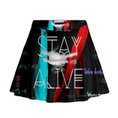 Twenty One Pilots Stay Alive Song Lyrics Quotes Mini Flare Skirt