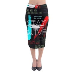 Twenty One Pilots Stay Alive Song Lyrics Quotes Midi Pencil Skirt