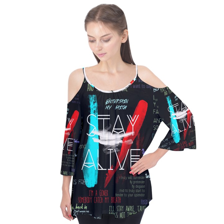 Twenty One Pilots Stay Alive Song Lyrics Quotes Flutter Tees