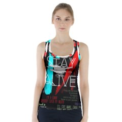 Twenty One Pilots Stay Alive Song Lyrics Quotes Racer Back Sports Top