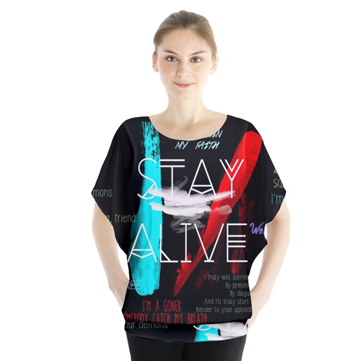 Twenty One Pilots Stay Alive Song Lyrics Quotes Blouse