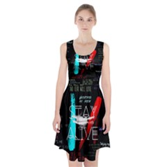 Twenty One Pilots Stay Alive Song Lyrics Quotes Racerback Midi Dress