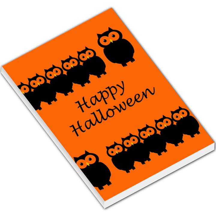 Happy Halloween - owls Large Memo Pads