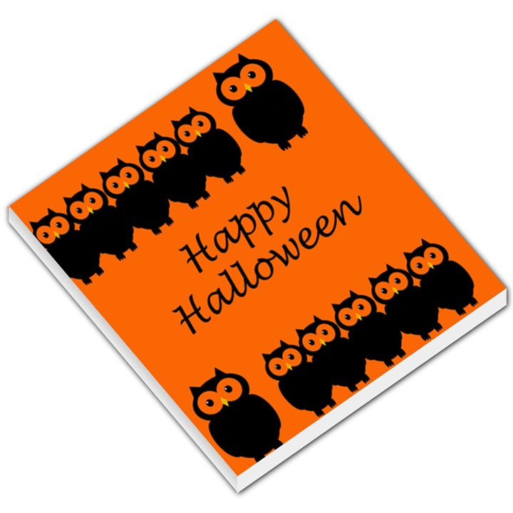 Happy Halloween - owls Small Memo Pads