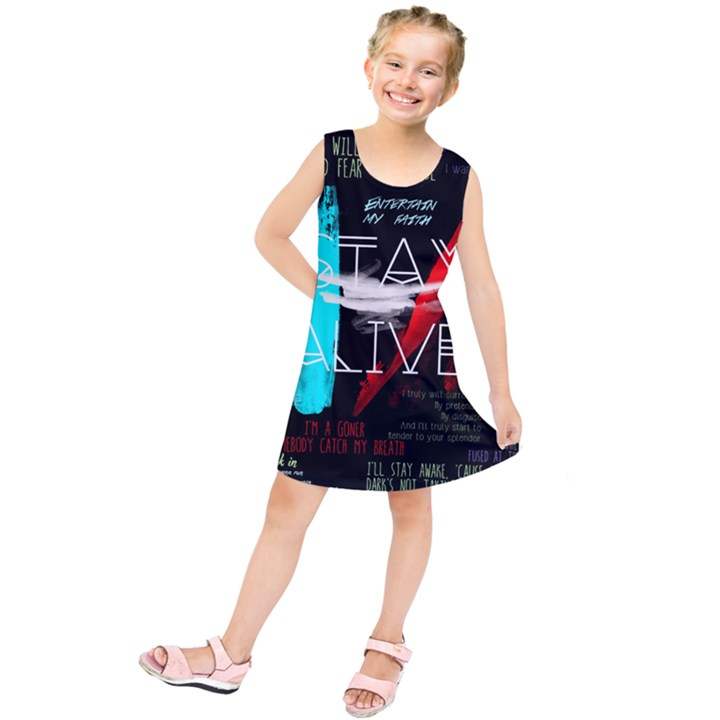 Twenty One Pilots Stay Alive Song Lyrics Quotes Kids  Tunic Dress