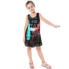 Twenty One Pilots Stay Alive Song Lyrics Quotes Kids  Sleeveless Dress