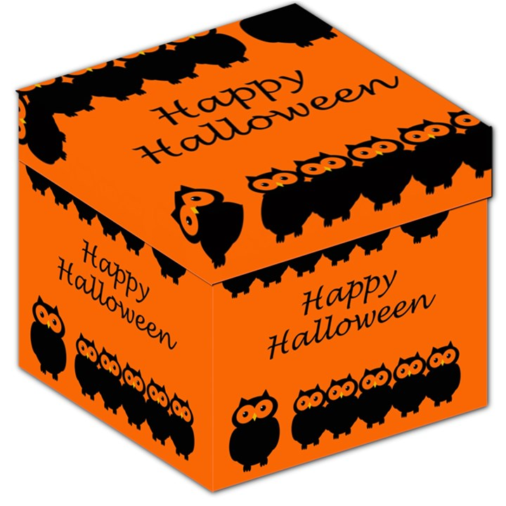 Happy Halloween - owls Storage Stool 12