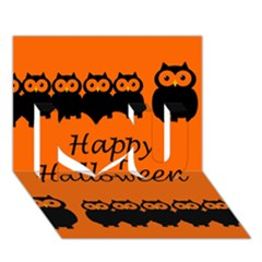 Happy Halloween   Owls I Love You 3d Greeting Card (7x5)