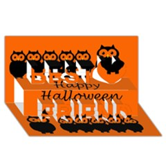 Happy Halloween   Owls Best Friends 3d Greeting Card (8x4)