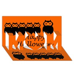 Happy Halloween - owls MOM 3D Greeting Card (8x4)