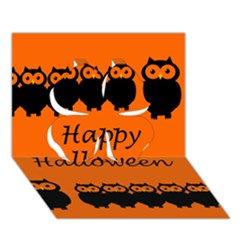 Happy Halloween - owls Clover 3D Greeting Card (7x5)