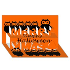 Happy Halloween   Owls Merry Xmas 3d Greeting Card (8x4)