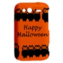 Happy Halloween - owls HTC Wildfire S A510e Hardshell Case View2