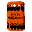 Happy Halloween - owls HTC Wildfire S A510e Hardshell Case View3