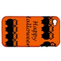 Happy Halloween - owls Apple iPhone 4/4S Hardshell Case (PC+Silicone) View1