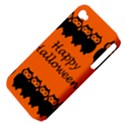 Happy Halloween - owls Apple iPhone 4/4S Hardshell Case (PC+Silicone) View4