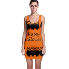 Happy Halloween - owls Sleeveless Bodycon Dress