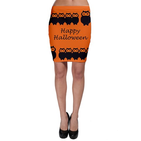 Happy Halloween - owls Bodycon Skirt