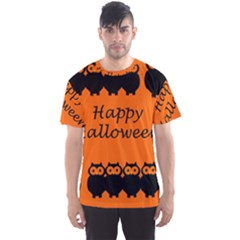Happy Halloween   Owls Men s Sport Mesh Tee