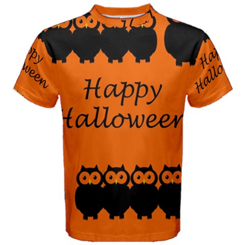 Happy Halloween - owls Men s Cotton Tee