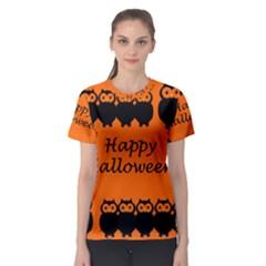 Happy Halloween   Owls Women s Sport Mesh Tee