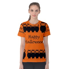 Happy Halloween - owls Women s Cotton Tee